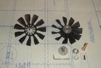 JETFAN-120ECO Set (10S-12S Lipo) mit HET 800-68-685, zusammengebaut und ausgewuchtet inklusive passendem Kühlkörper