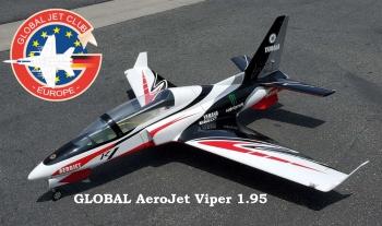 GLOBAL AeroJet Viper G2 1.95m BLACK SPORT ARF PRO mit Licht und Scale Cockpit