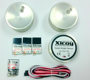 Digitale Gewicht- und Schwerpunkt-Waage mit Ruder-Winkel Messer (Bluetooth)