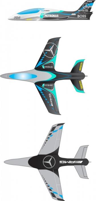 Predator 2.7m Farbe GJC 01 - TURBINE READY Version