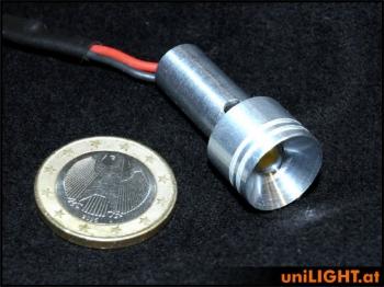 4W Alu-Scheinwerfer 15mm, WEISS