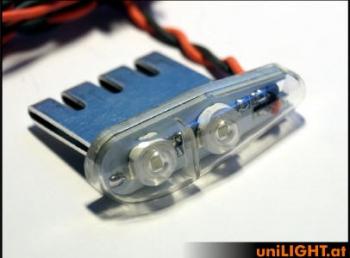 4Wx2 Positionslicht 11mm, WEISS