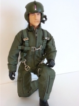 SCALE Full-Body Helicopter Pilot 1/7 GRÜN normal