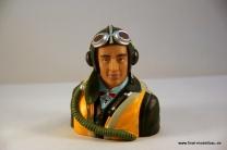 Pilotenkopf Deutscher Pilot 2.Weltkrieg 1:6