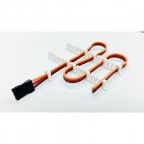 Profi Servokabel Halter, für 3-adrige Kabel flach  Weiss (Breite 1,7 mm)