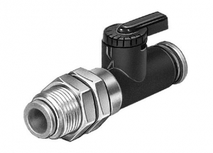 Kugelhahn QHS-QS-6 mit Schottverschraubung 6mm