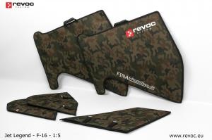 REVOC Flächenschutztaschen Set JL F16 1/6 Standard Color CAMO