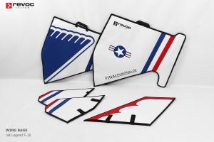 REVOC Flächenschutztaschen Set JL F16 1/5 THUNDERBIRD