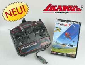 Komplettset: aeroflyRC7 ULTIMATE mit USB-Commander