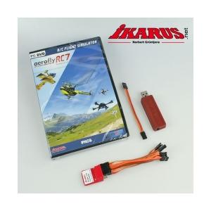Komplettset: aeroflyRC7 PROFESSIONAL mit USB-Interface und SLC für das kabellose Fliegen