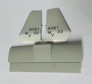 Heckflügel für VTOL V-22 Osprey Farbe: Tactical grey MARINES