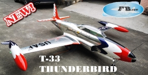 Feibao T-33 THUNDERBIRD ARF - New Metallic Look