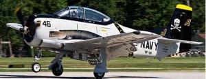 FlyFlyHobby T-28 Trojan ARF 2.20m 'NAVY JOLLY ROGER'