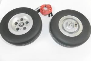 Hauptfahrwerk-Räder 84mm mit elektr. Bremse