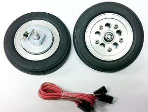Hauptfahrwerk-Räder 78mm mit elektr. Bremse
