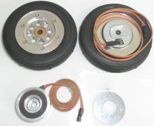 Hauptfahrwerk-Räder 102mm mit elektr. Bremse