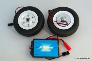 JTM Hauptfahrwerk-Räder 70mm mit elektr. Bremse
