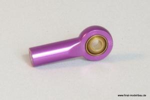 Kugelkopf Metall lila 25mm