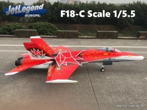 Jetlegend F-18C 1/5.5 PNP Canadian Air Force Display 2018
