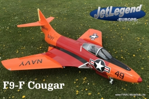 Jetlegend F9F COUGAR 1/5.8 PNP Version RED ORANGE