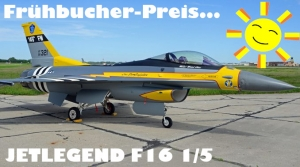 Jetlegend F-16C 1/5 PNP-Version US AIR FORCE Retro TEXAS