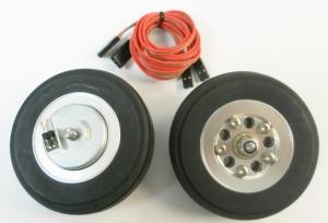 Hauptfahrwerk-Räder 57mm mit elektr. Bremse