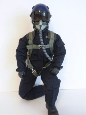 SCALE Full-Body Jet Pilot 1/6 BLAU