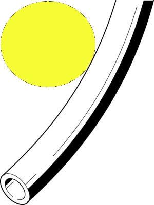 Kunststoffschlauch 3x0,5 gelb