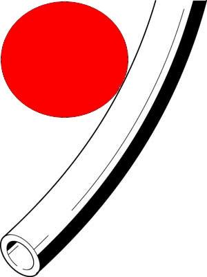 Kunststoffschlauch 3x0,5 rot PUN-3X0,5-RT