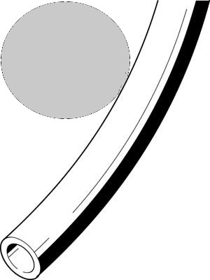 Kunststoffschlauch 3x0,5 silber