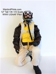 SCALE Full-Body Pilot WWII USAAF 1/5 ~ 1/6 - normal