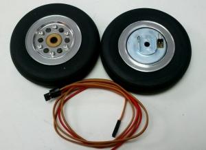 Hauptfahrwerk-Räder 66mm mit elektr. Bremse