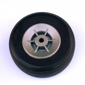 Paar Gummireifen mit Nylon-Felge, ø 55mm