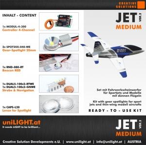 JET-Medium Beleuchtungsset für Modelle mit dünnen Tragflächen
