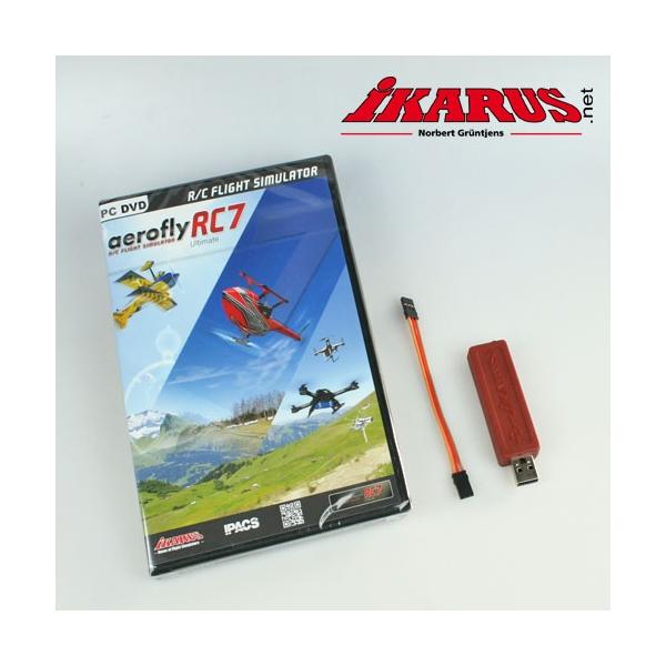 Komplettset: aeroflyRC7 ULTIMATE mit USB-Interface für Summensignal (Graupner-HoTT)