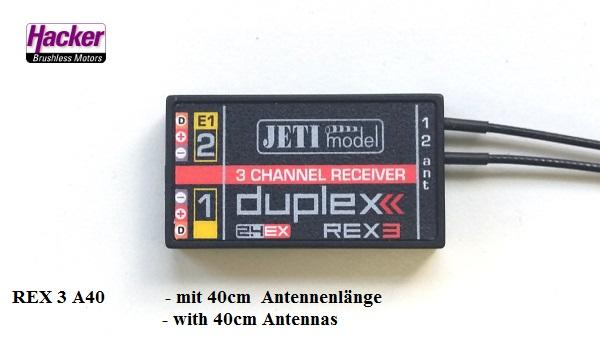 DUPLEX 2.4EX Empfänger REX 3 A40