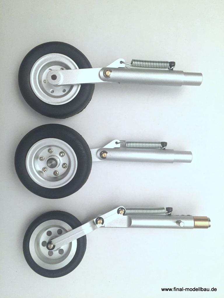 JTM Fahrwerksbeine (geschleppt) VIPER90 ohne Bremse!