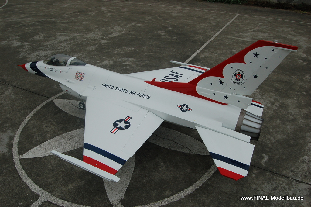 Jetlegend F16 1/6 PNP-Version THUNDERBIRD