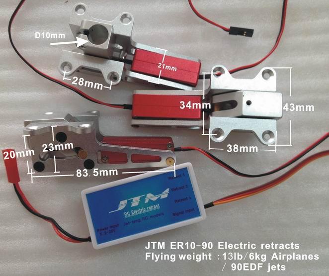 JTM Elektrisches Einziehfahrwerk-Set ER10-90