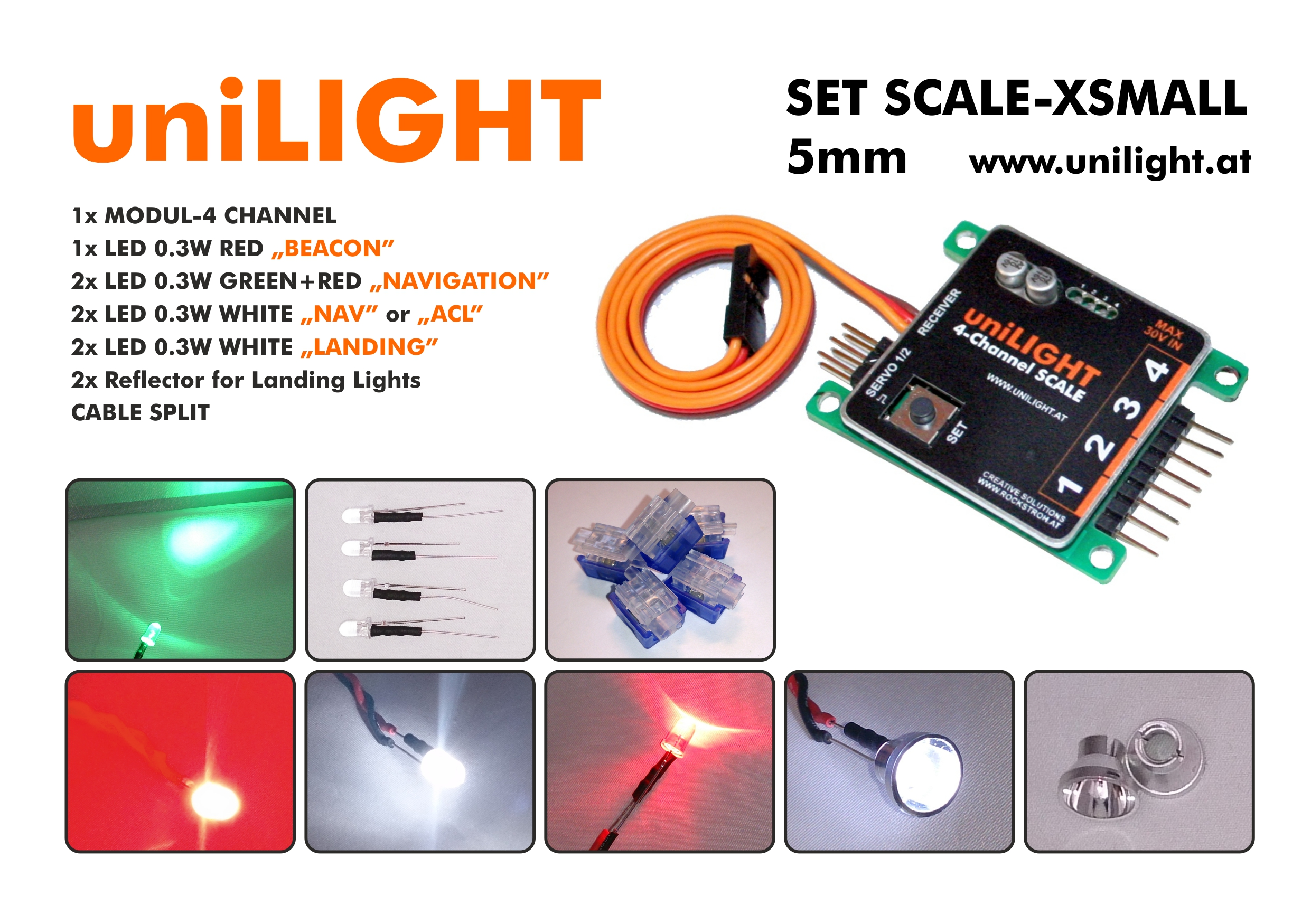 SCALE-XS Beleuchtungsset 5mm