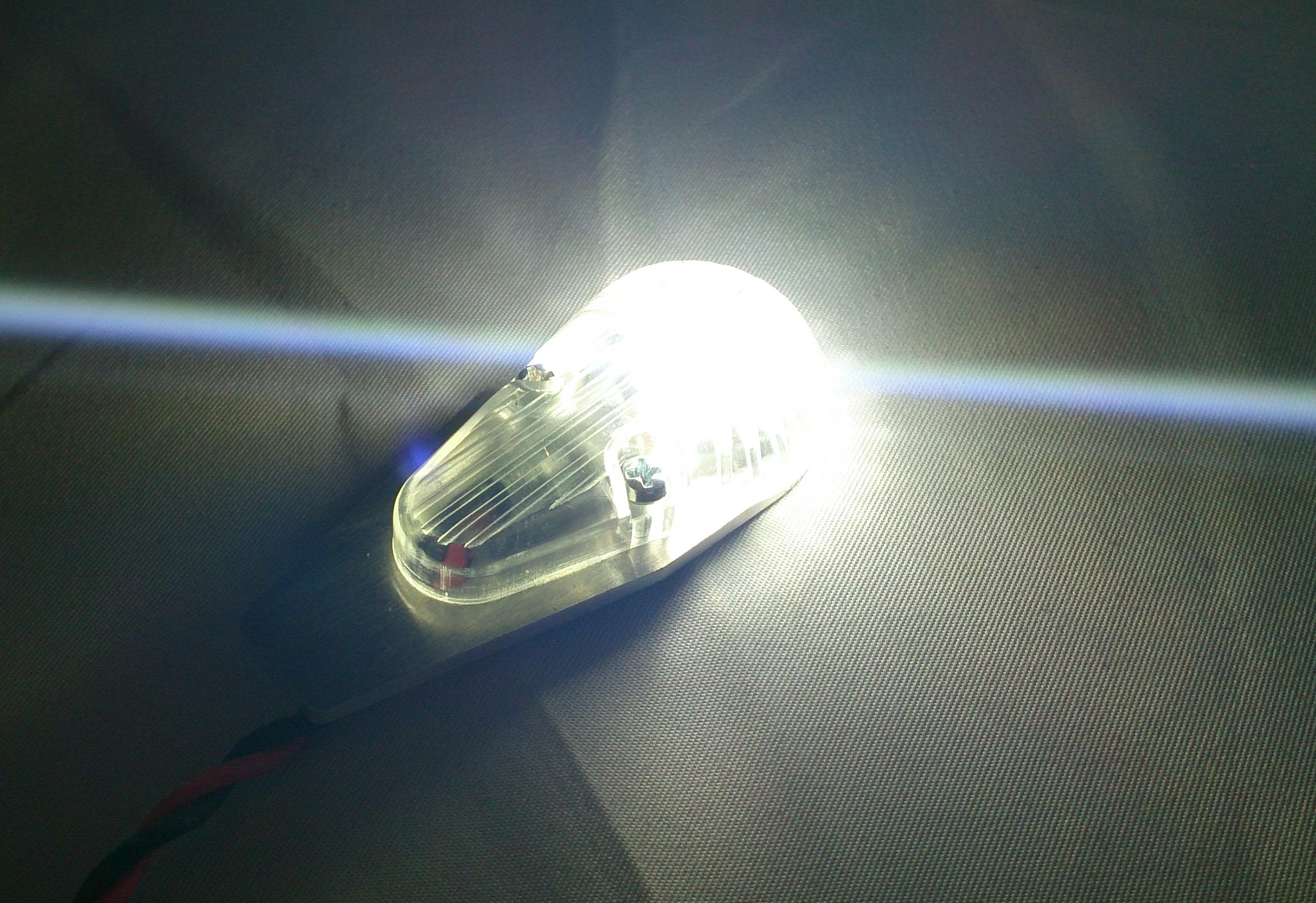 8W Profillicht 24mm, WEISS